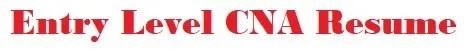 Entry Level CNA Resume Logo