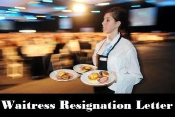 Waitress Resignation Letter