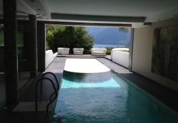 rideau de piscine immergé