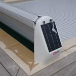 volet hors sol avec alimentation solaire