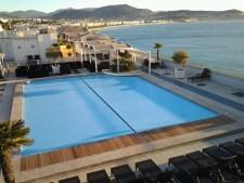 rideau piscine immergé piscine public en deux parties