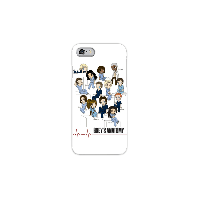 COVER GREY'S ANATOMY TEAM per iPhone 3g/3gs 4/4s 5/5s/c 6