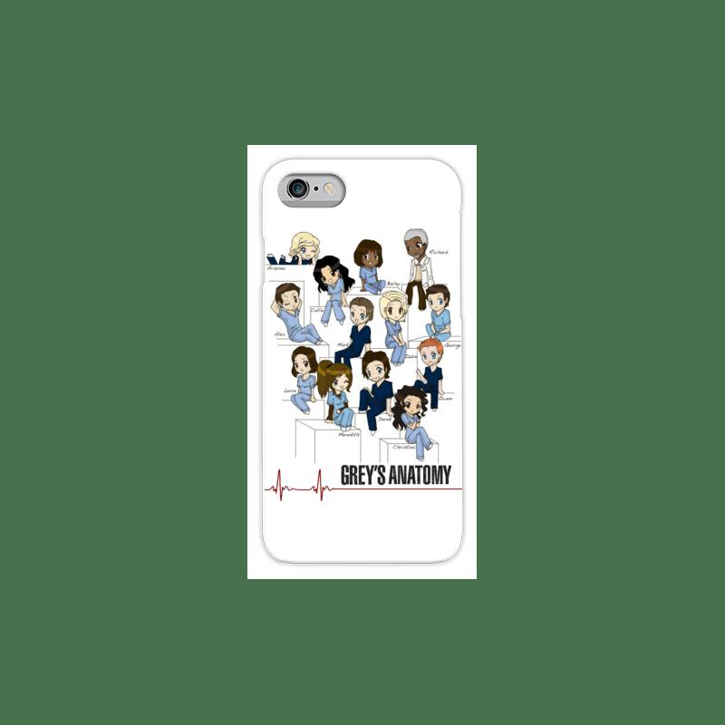 COVER GREY'S ANATOMY TEAM per iPhone 3g/3gs 4/4s 5/5s/c 6