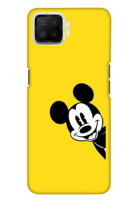 Yellow Mickey Art Mobile Cover For Oppo F17