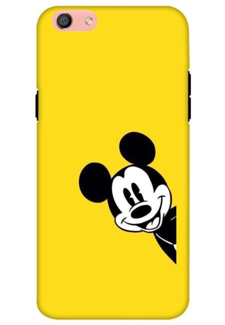 Yellow Mickey Art Mobile Cover For Oppo F3