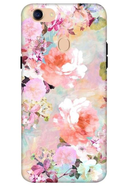 Water Color Flower Art Mobile Cover For Oppo F5
