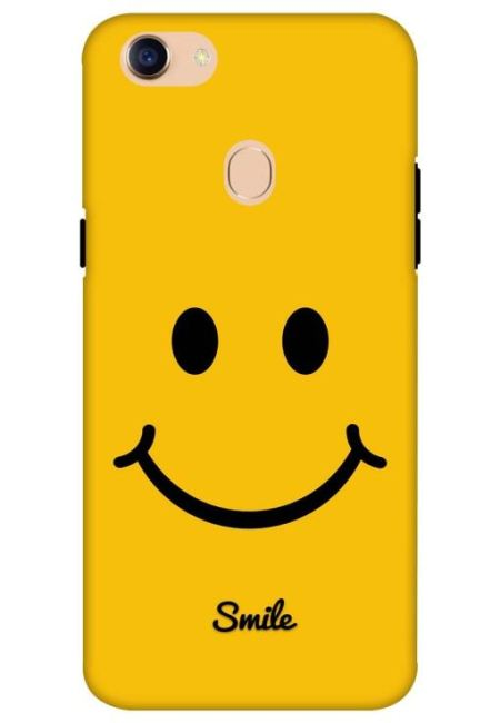 Yellow Smily Mobile Cover For Oppo F5