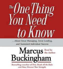 The One Thing You Need To Know audio book by Marcus Buckingham