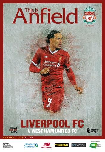 Liverpool FC Programmes  vs West Ham United 17 18 Subscriptions  Pocketmags