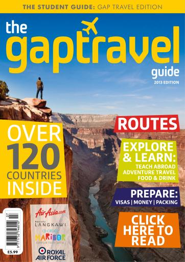 The Gap Year Travel Guide Magazine  The Gap Travel Guide 2013 Subscriptions  Pocketmags