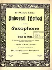 Cover of: Universal method for the saxophone ... by Paul de Ville