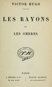 Les Rayons Et Les Ombres : rayons, ombres, Rayons, Ombres., (1840, Edition), Library