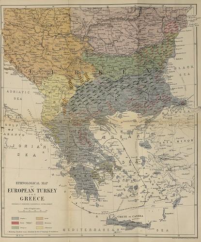 Map Of Turkey And Greece : turkey, greece, Ethnological, European, Turkey, Greece, (1877, Edition), Library