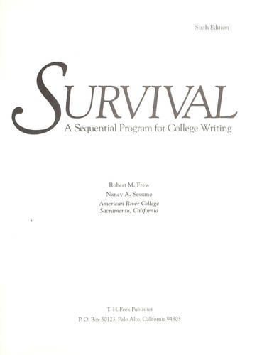 Survival : a sequential program for college writing