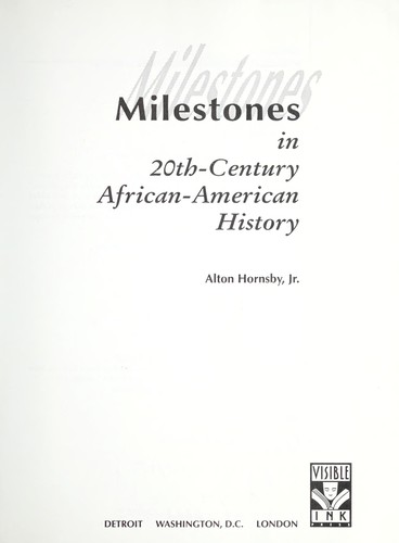 Milestones in 20th-century African-American history (1993