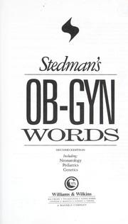 Stedman's OB-GYN words : including neonatology, pediatrics