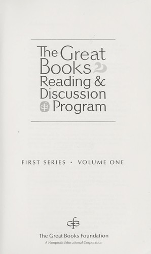 The Great Books Reading and Discussion Program (First