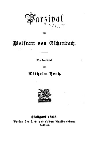 Parzival (1898 edition) | Open Library