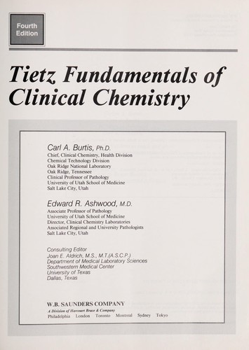 Tietz fundamentals of clinical chemistry | Open Library