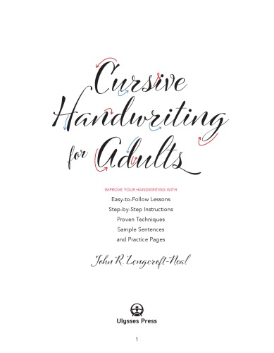 Cursive Handwriting for Adults: Easy-to-Follow Lessons