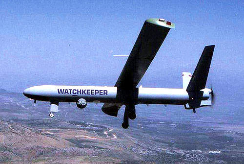 In August 2005, Thales UK was awarded the contract for the development, manufacture and initial support (DMIS) phases of the Watchkeeper programme.