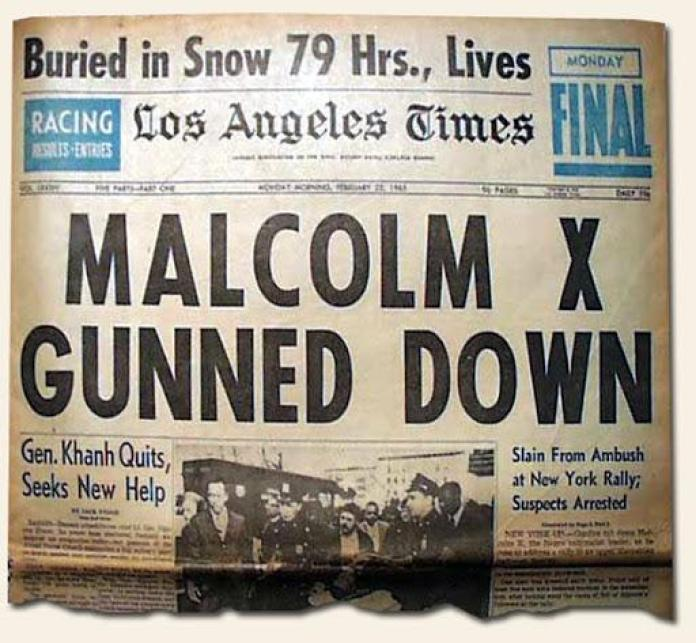 Great Headlines Speak For Themselves… Malcolm X assassinated… | History's Newsstand Blog