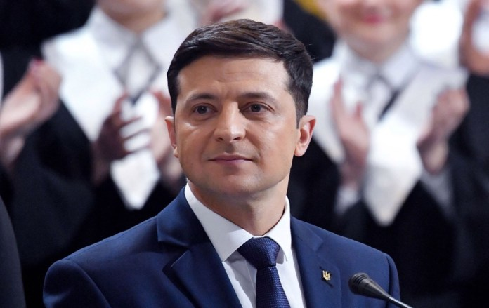 Ukranian comedian Volodymyr Zelensky set to become president
