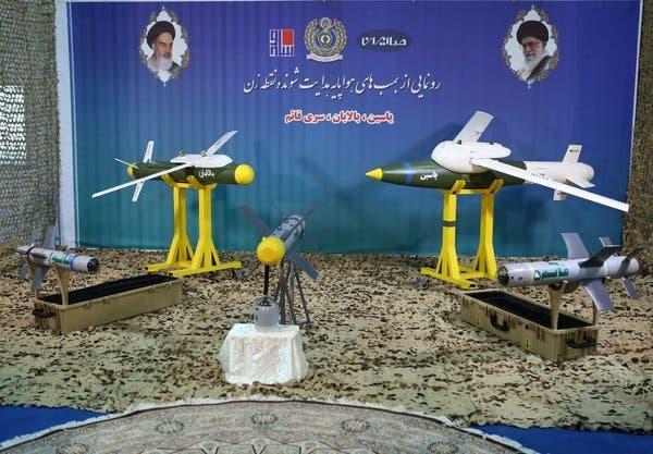 """A photograph released by Iran's Defense Ministry this month shows what it called """"smart bombs"""" usable on drones. Late Saturday Israel struck Iranian targets in Syria, saying Iran was preparing an attack with """"killer drones."""""""