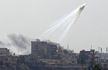 Coalition drops white phosphorus bombs in Syria's Hajin