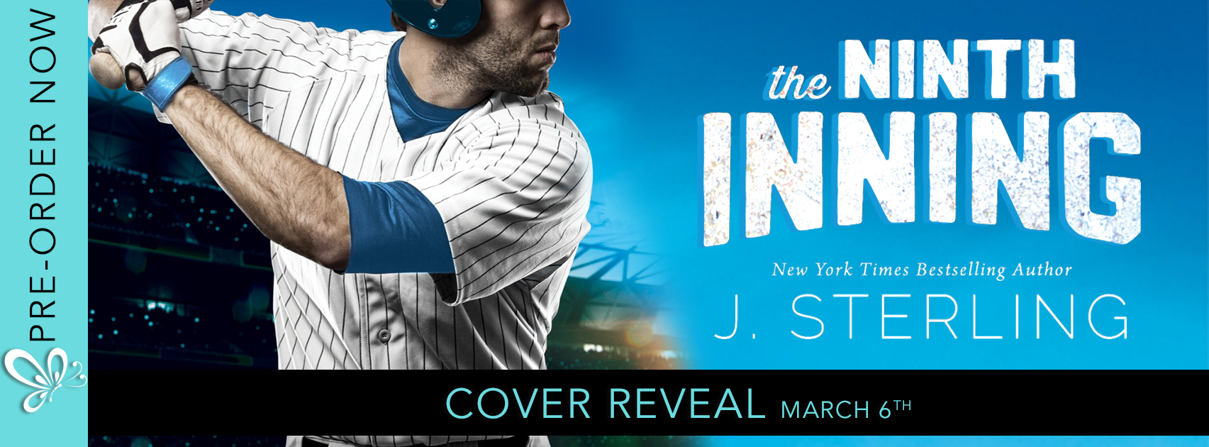 Social Butterfly PR Cover Reveal: The Ninth Inning by J. Sterling