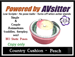 Country Cushion-Peach by COVETED!