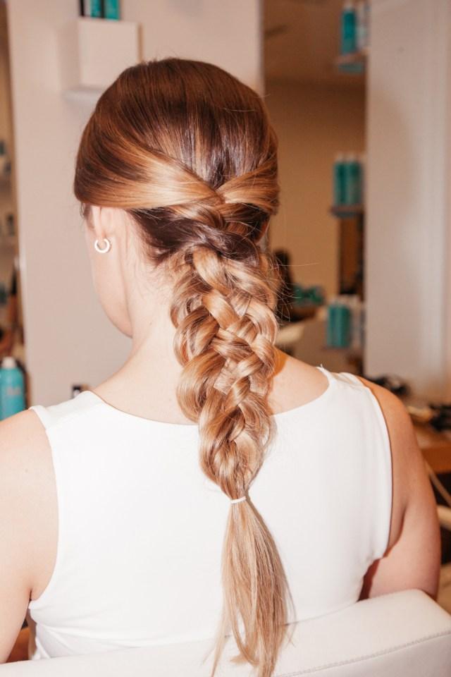 how to do a french braid bun wedding hair - coveteur