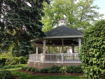 This gazebo is one of many historic and scenic places nearby.