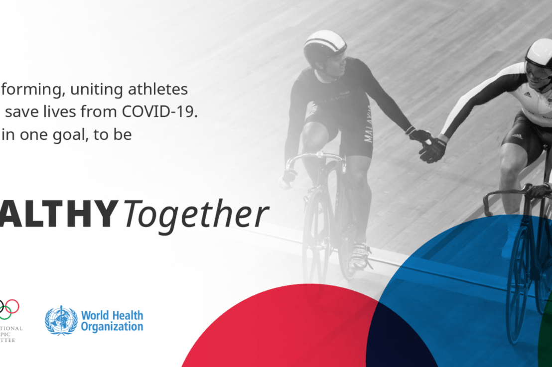 WHO partners with the International Olympic Committee to highlight ways to stay #HealthTogether during the COVID-19 pandemic
