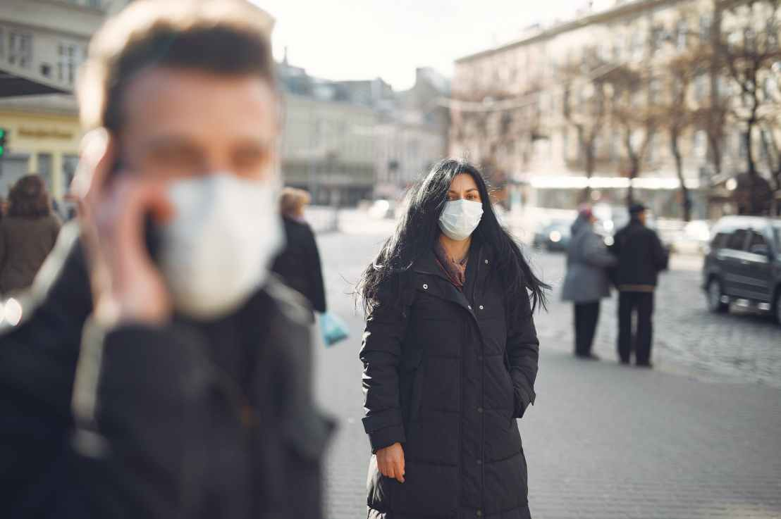 The Public Health Agency of Canada requires essential workers entering Canada to wear a non-medical mask or face covering