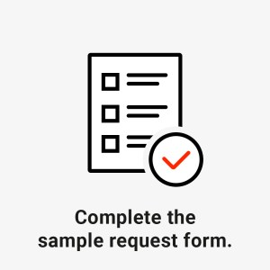 complete the sample request form