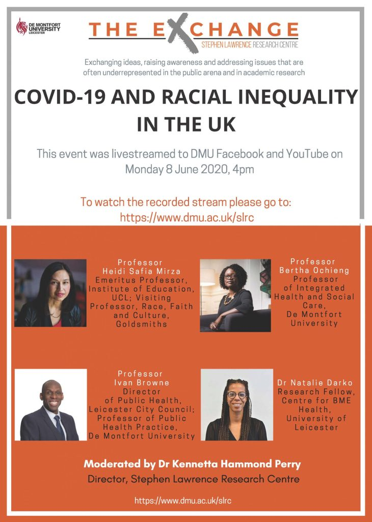 SLRC The Exchange series – COVID-19 and Racial Inequality in the UK