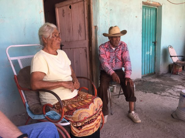 Visiting Reyes and Remedios at their home