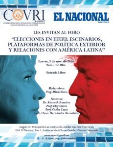 Afiche Elecciones en EEUU en El Nacional