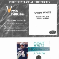Cowboys Football Helmet Chair Decorative Office Chairs Randy White 54 Signed Dallas Mini Victory