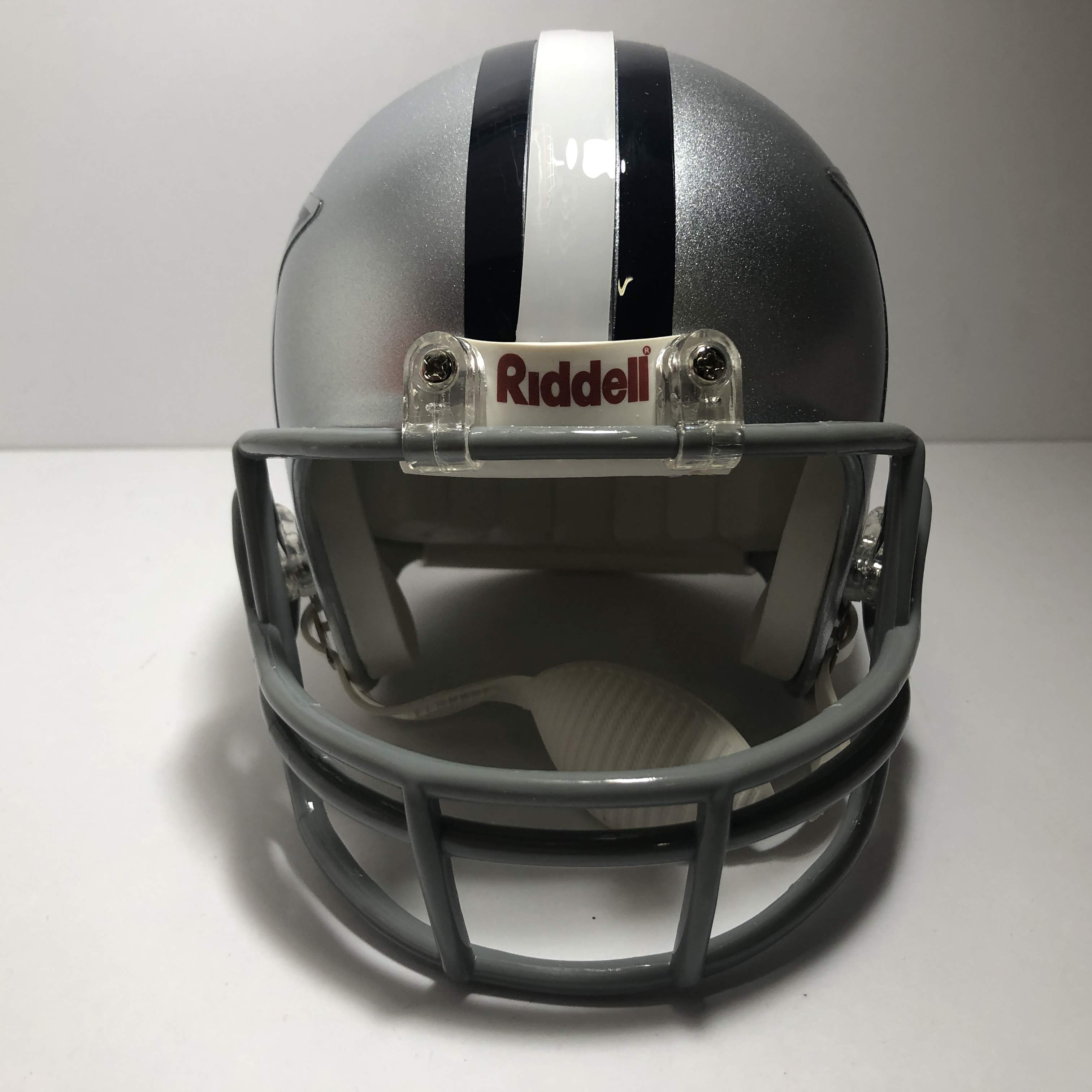 cowboys football helmet chair butterfly covers walmart julius jones 21 signed dallas mini
