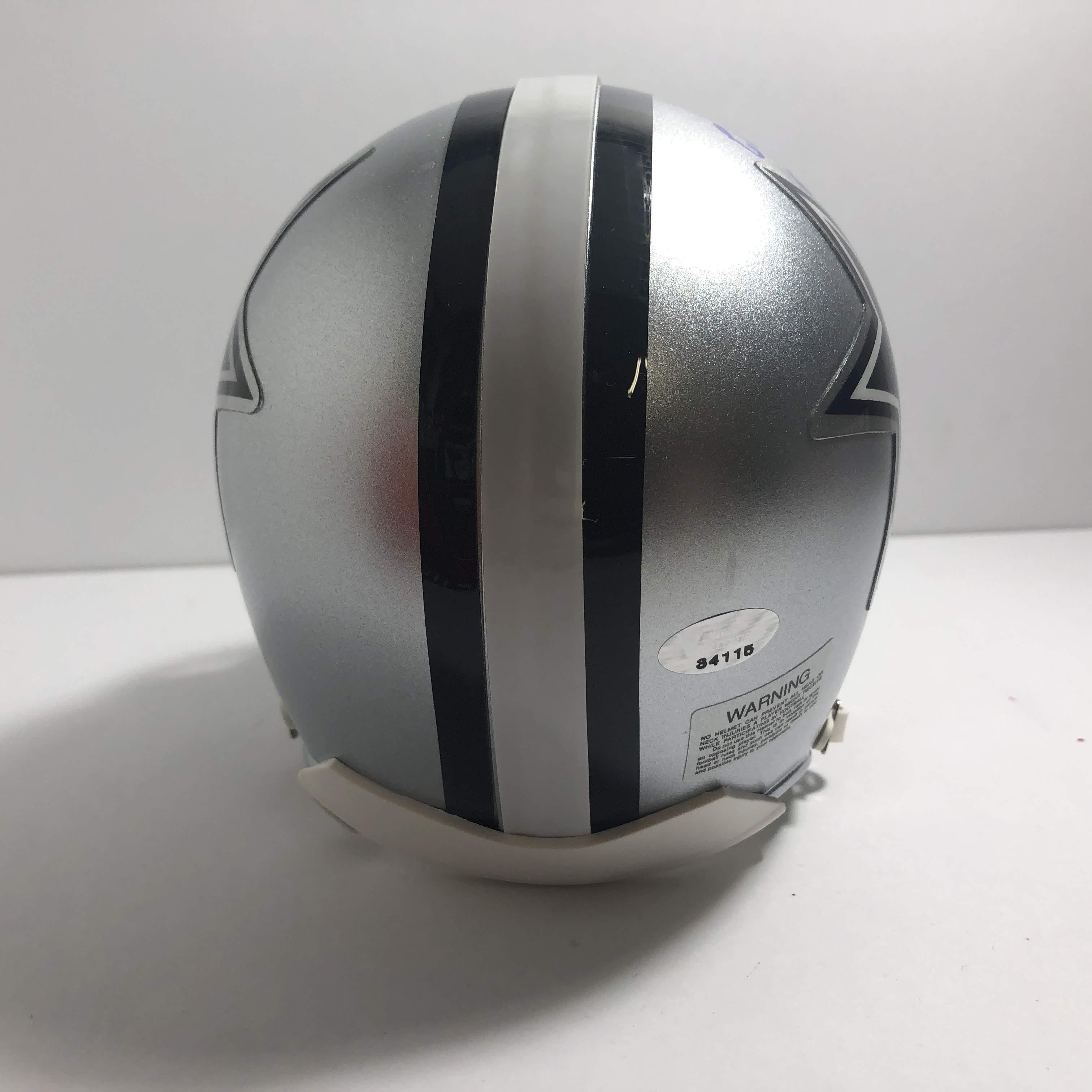 cowboys football helmet chair hanging victoria bc chuck howley 54 signed dallas mini