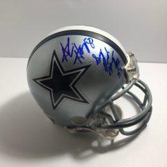 Cowboys Football Helmet Chair Hammock Amazon Alvin Harper 84 Signed And Inscribed Dallas Mini