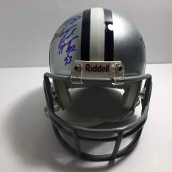 Cowboys Football Helmet Chair World Market Butterfly Alvin Harper 84 Signed And Inscribed Dallas Mini