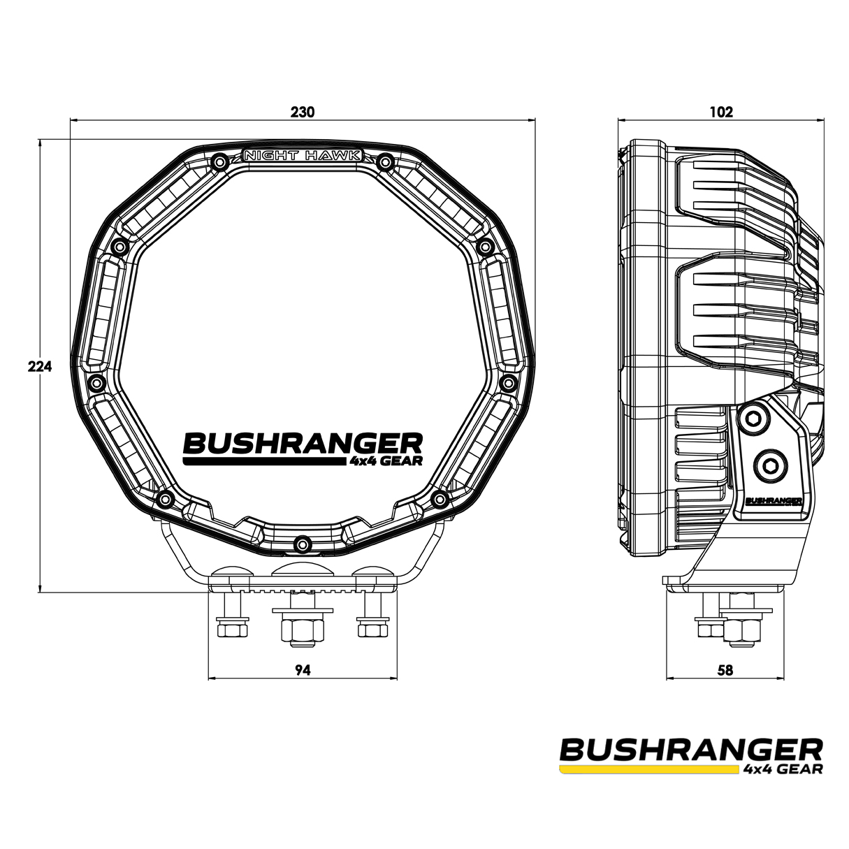 Bushranger Nighthawk Vli Series Led Driving Light