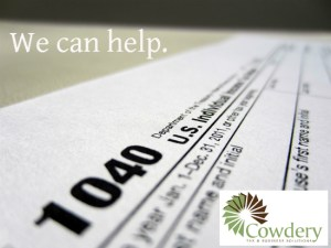 We provide tax prep solutions at a lower fee than national chains. | CowderyTax.com