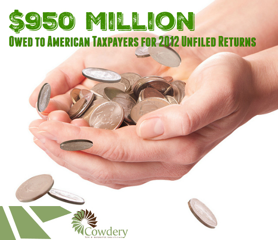 $950 Million Owed for Unfiled Returns for 2012 | CowderyTax.com