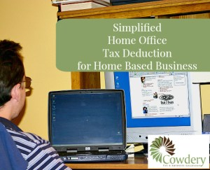 Simplified Home Office Deduction | CowderyTax.com #taxes