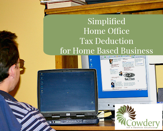 Simplified Home Office Deduction   CowderyTax.com #taxes