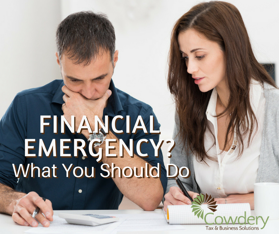 What Should You Do in a Financial Emergency? | Cowdery Tax & Business Solutions